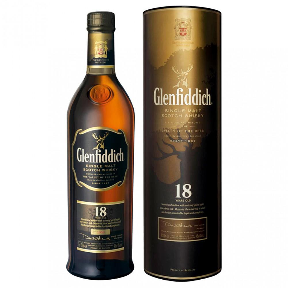 Виски Гленфиддик 18 лет (туба)
