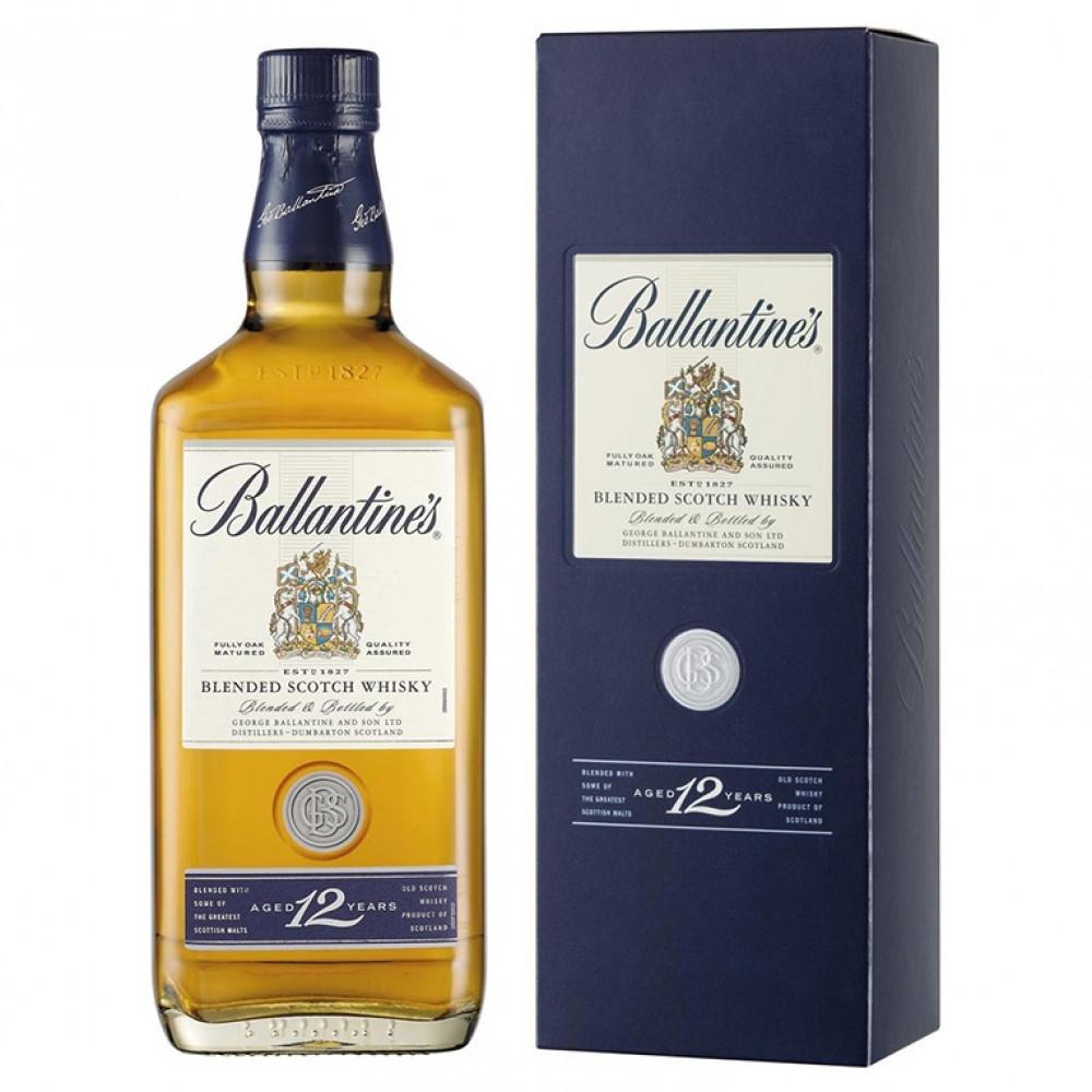 Виски Баллантайнс 12 лет (п/к)