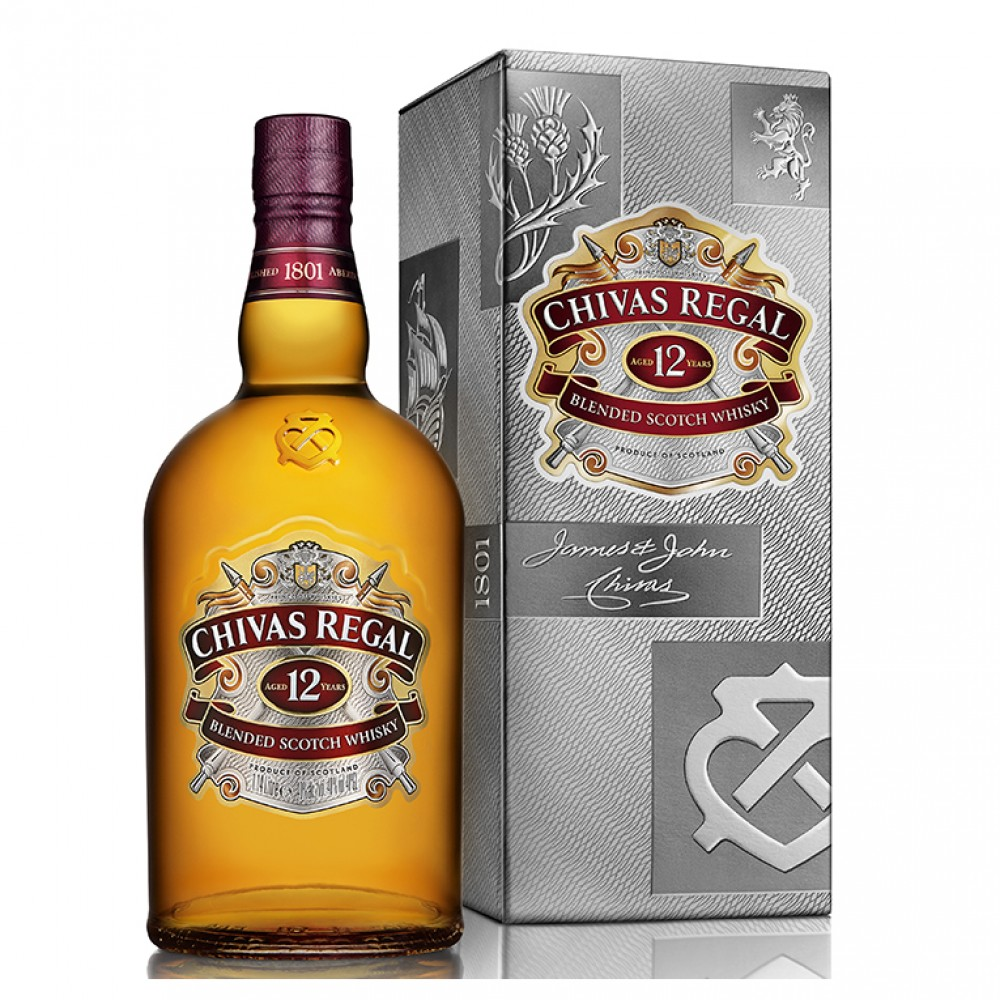 Виски Чивас Ригал 12 лет (п/к)