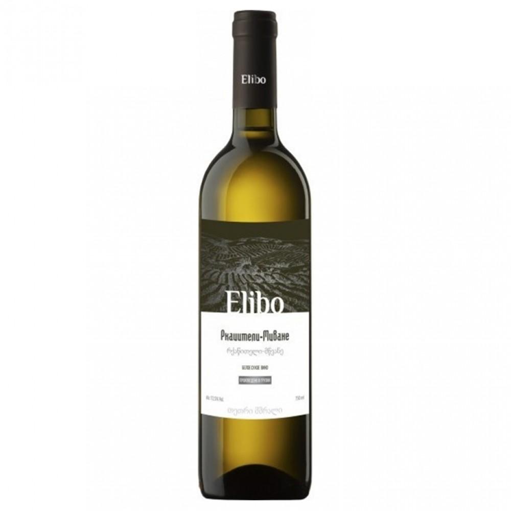 Вино Элибо Ркацители-Мцване бел сух.