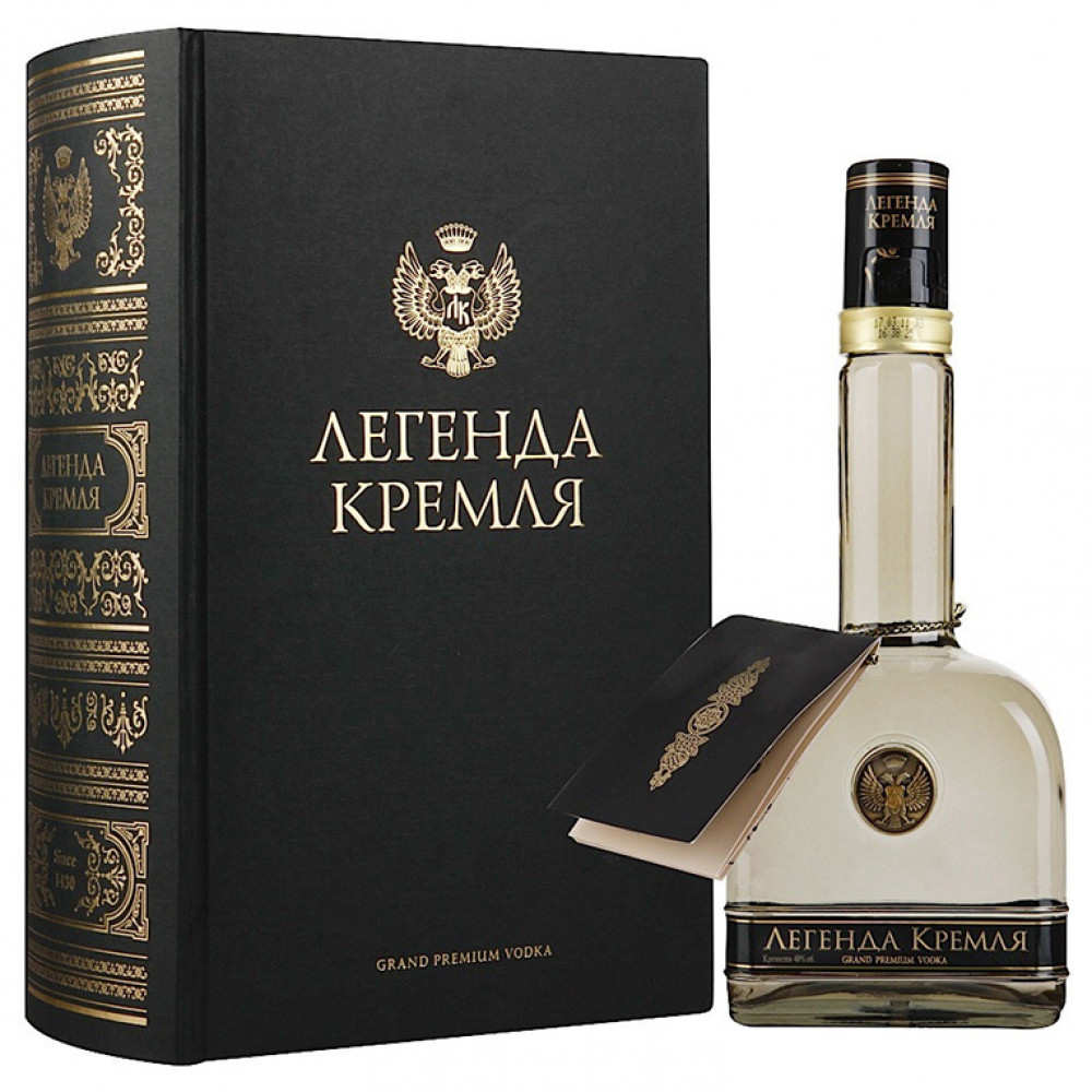 """Водка Легенда Кремля (п/у фолиант)  """"Владалко"""""""