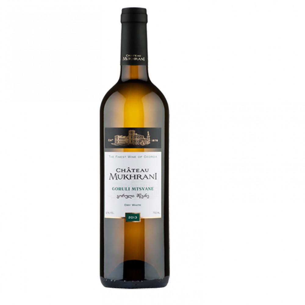 Вино Горули Мцване бел сух Шато Мухрани