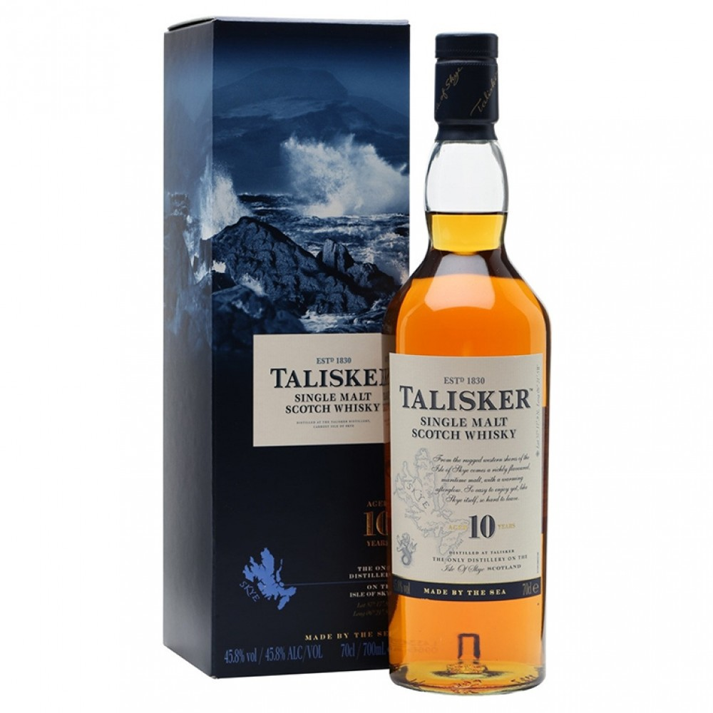 Виски Талискер 10 лет 45,8% п/у 0,75