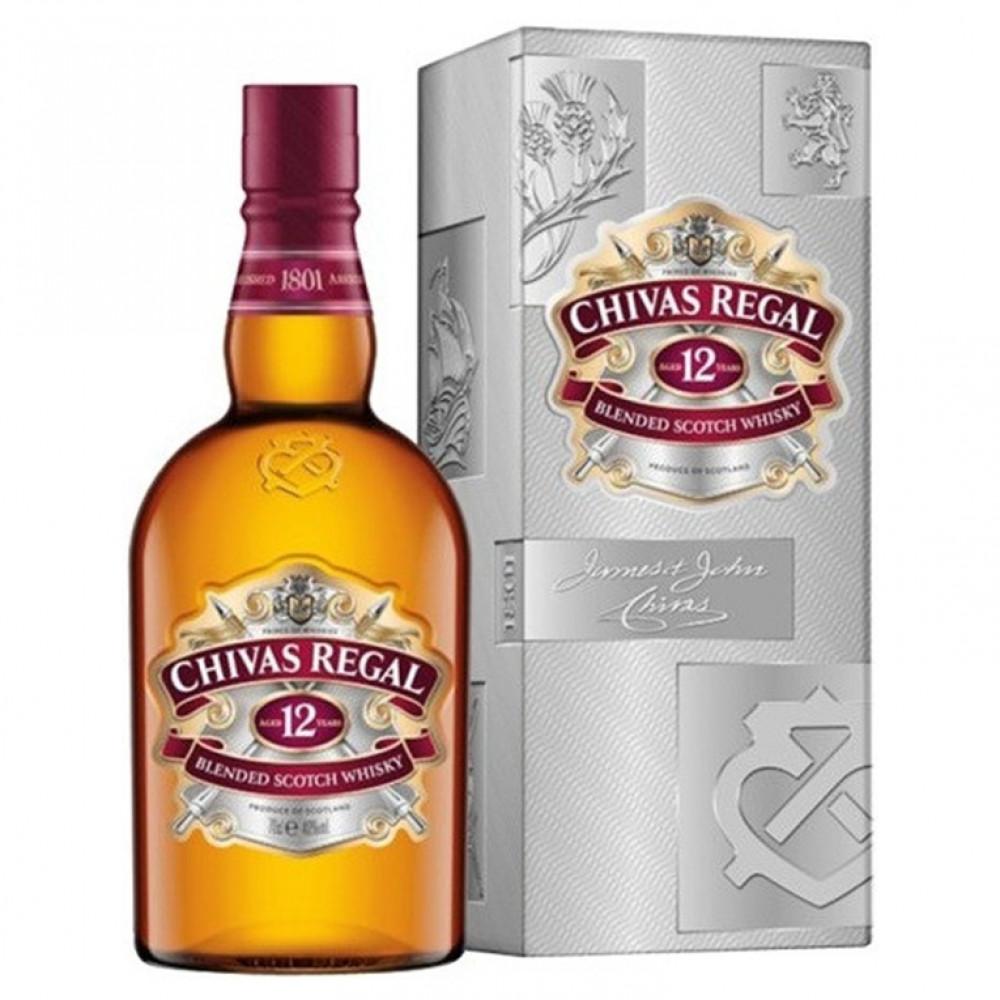 Виски Чивас Ригал 12 лет (кр)  (п/к)