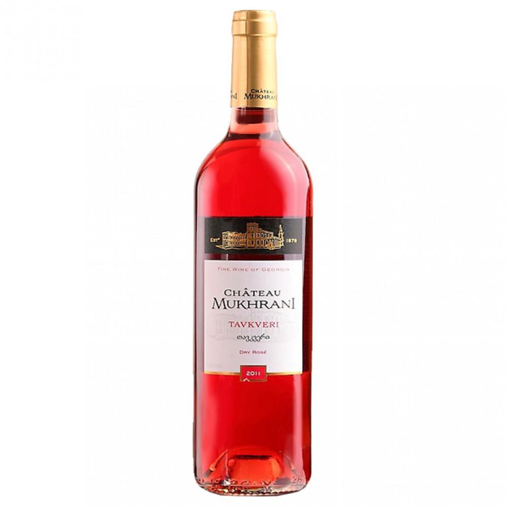 Вино Тавквери роз сух 2016 Шато Мухрани