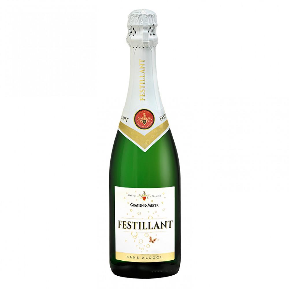 Вино игристое Фестийан белое сладкое безалкогольное 0,75 0.750