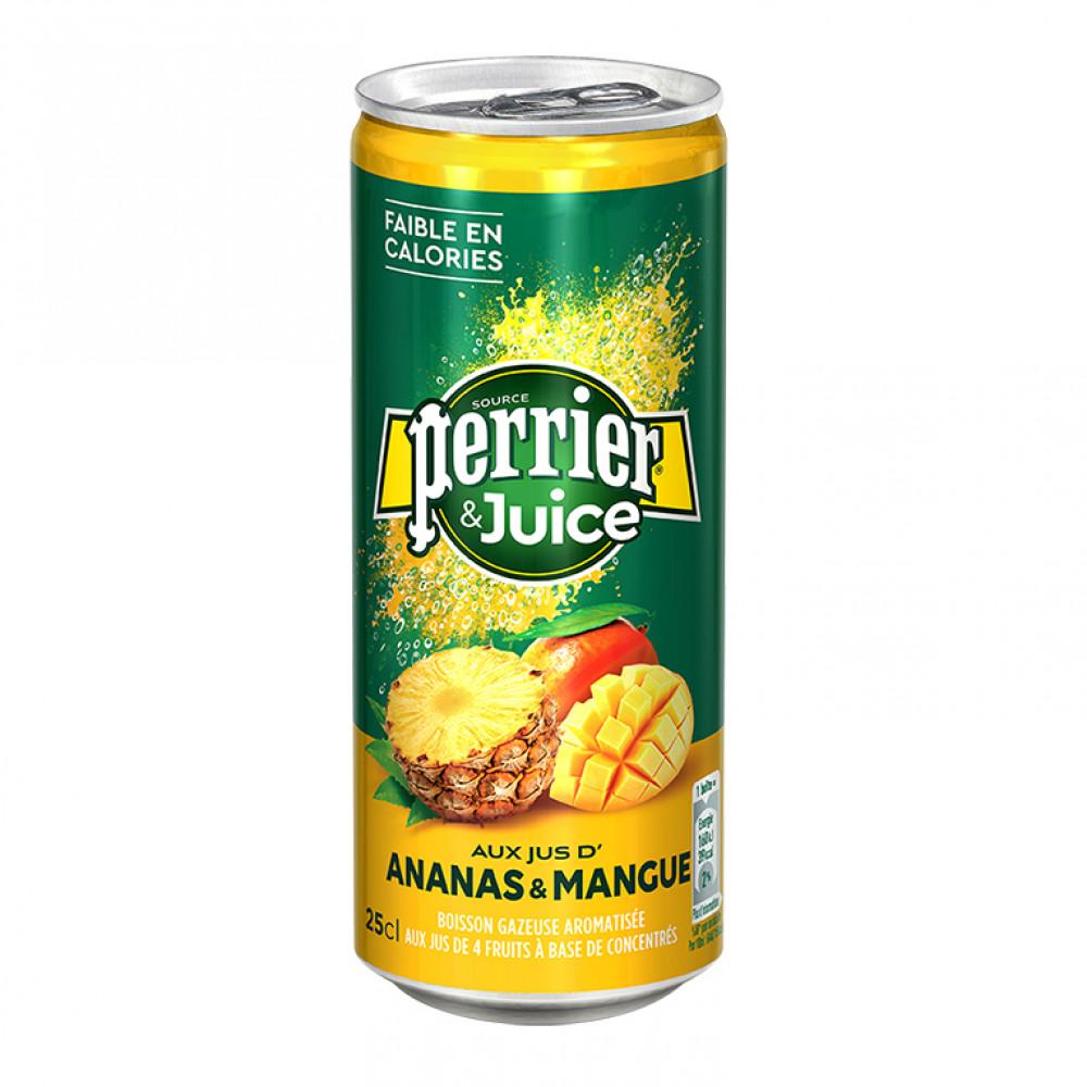 Напиток газ Перье ананас-манго ал/б 0.250