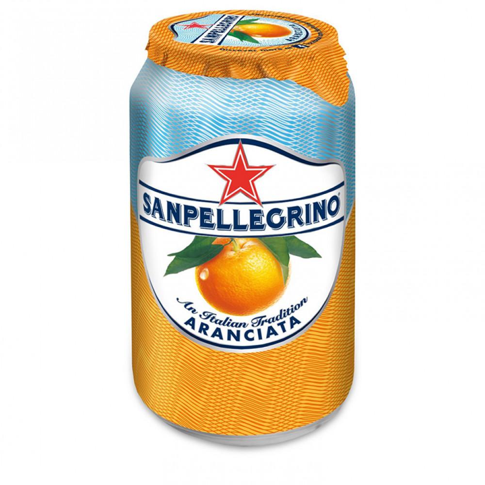 Напиток газ сокосод С.Пеллегрино апельсин ал/б 0.330