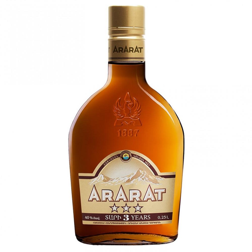 Коньяк Арарат 3* 0.250