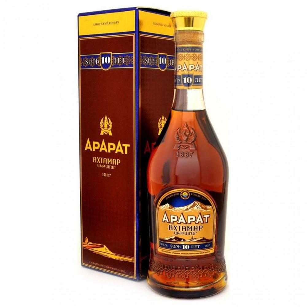 Коньяк Ахтамар 10 лет (п/к)  0.500