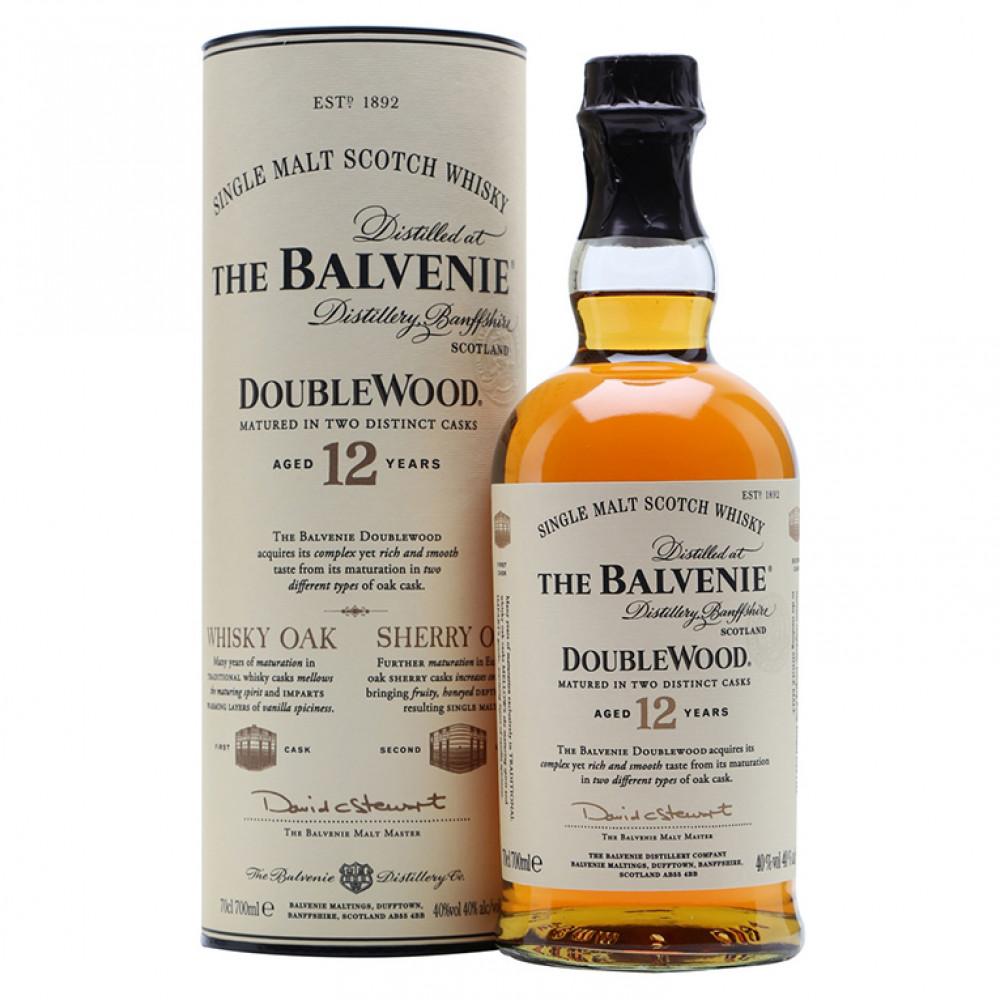 Виски Балвини Даблвуд 12 лет (туба)  0.700