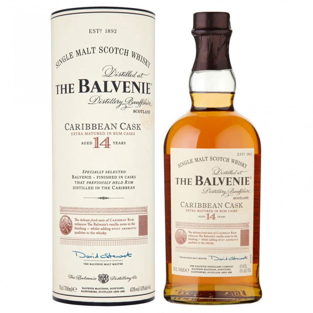 Виски Балвини Каррибиен Каск 14 лет (п/к)  0.700
