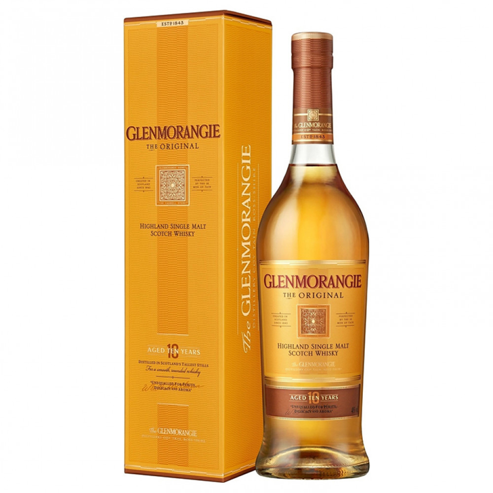 Виски Гленморанджи Орижинал 10 лет (п/к)  0.500