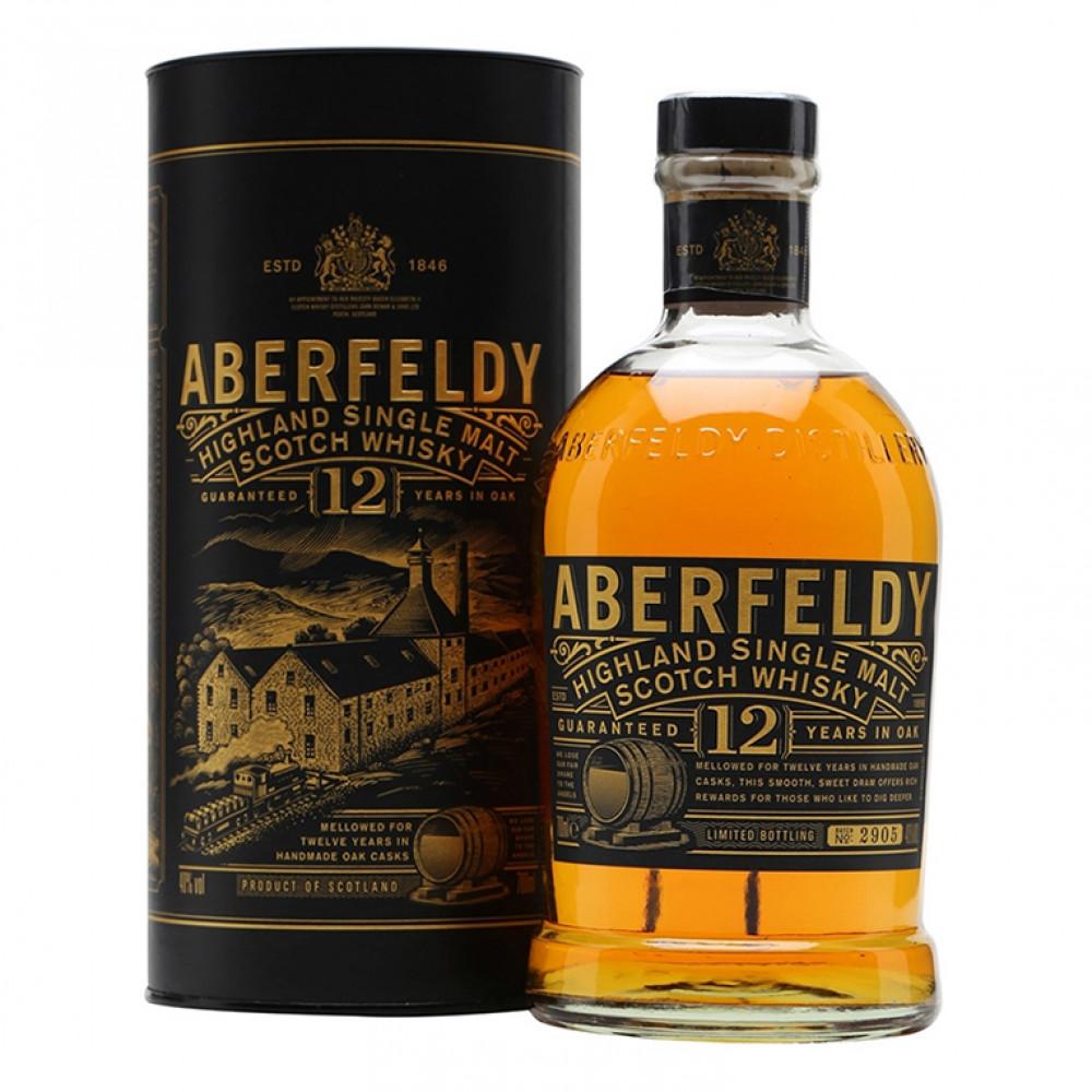 Виски Аберфелди 12 лет (туба)  0.700