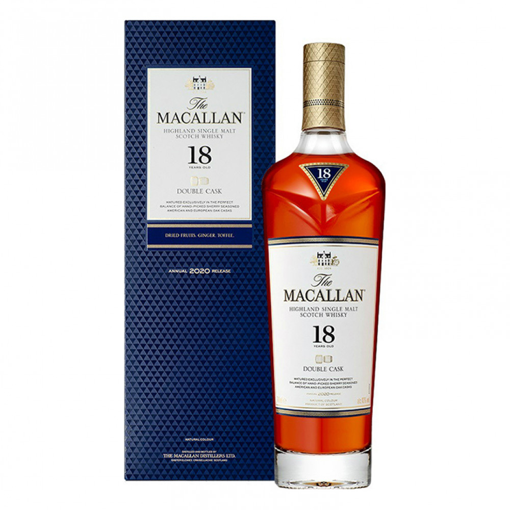 Виски Макаллан Дабл Каск 18 лет (п/к)  0.700