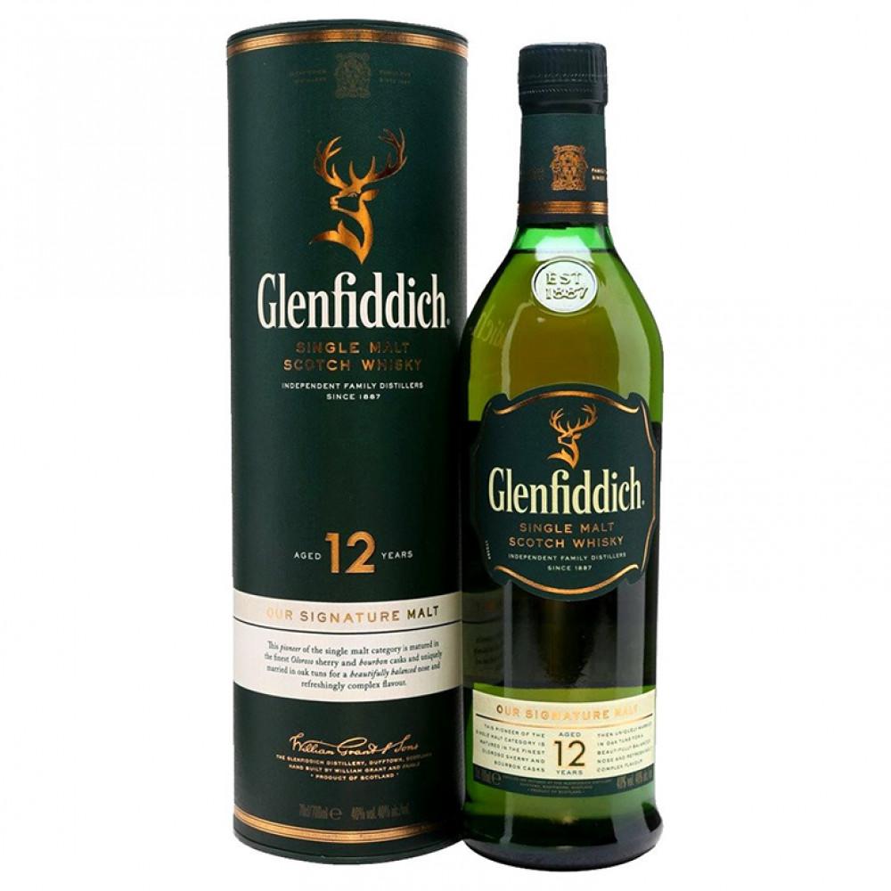 Виски Гленфиддик 12 лет (туба)  0.700
