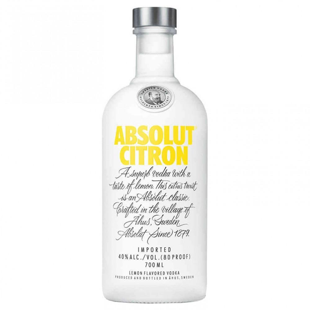 Водка Абсолют Лимон (Настойка горькая)  0.700