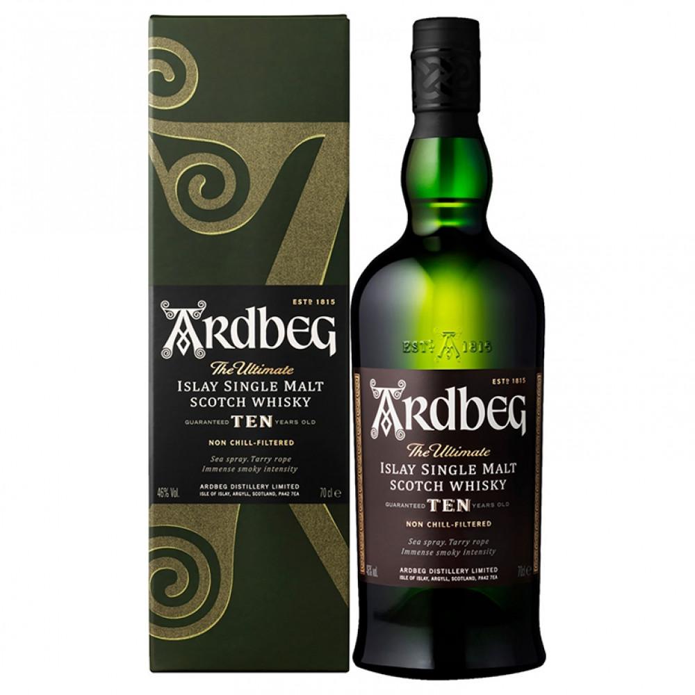 Виски Ардбег 10 лет (п/к)  0.700