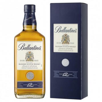 Виски Баллантайнс 12 лет (п/к)  0.700