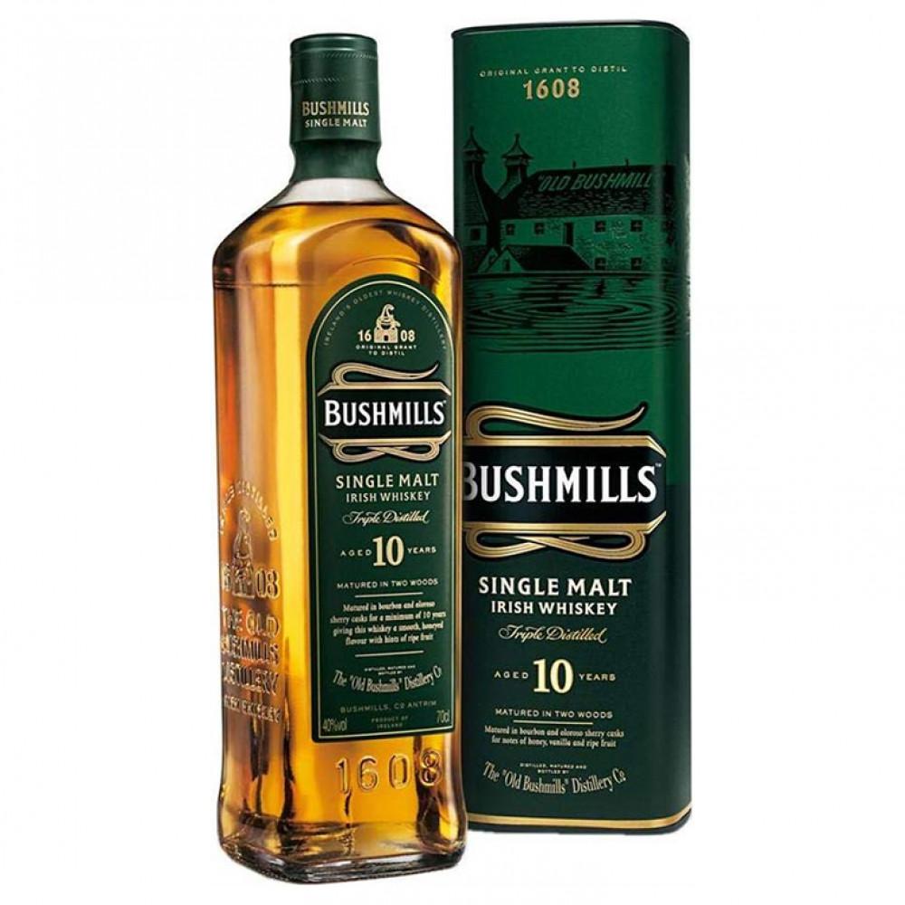 Виски Бушмилз Сингл Молт 10 лет (туба)  0.700