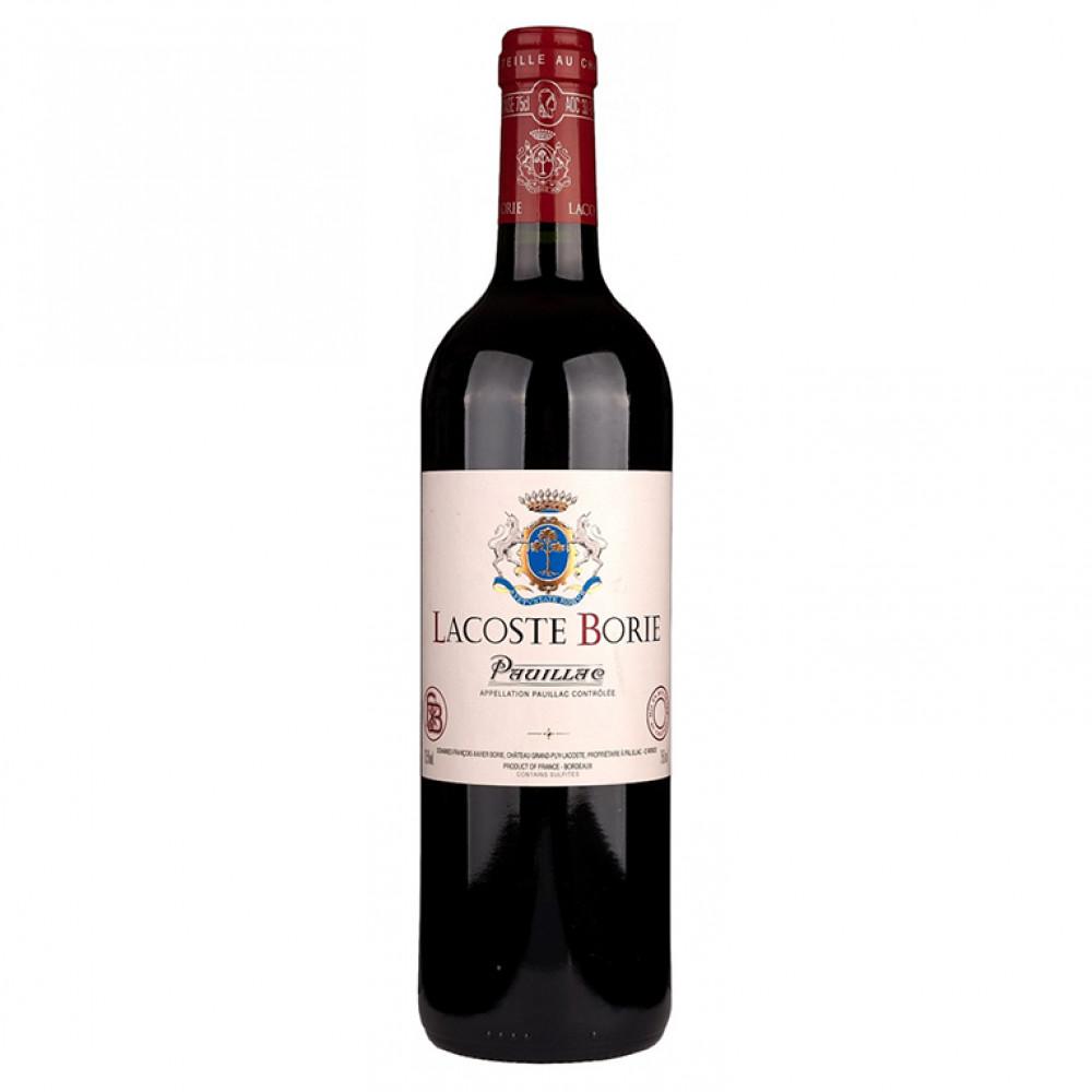 Пойак АОС Лакост Бори 2-е вино Шато Гран Пюи Лакост кр сух 2016 0.750