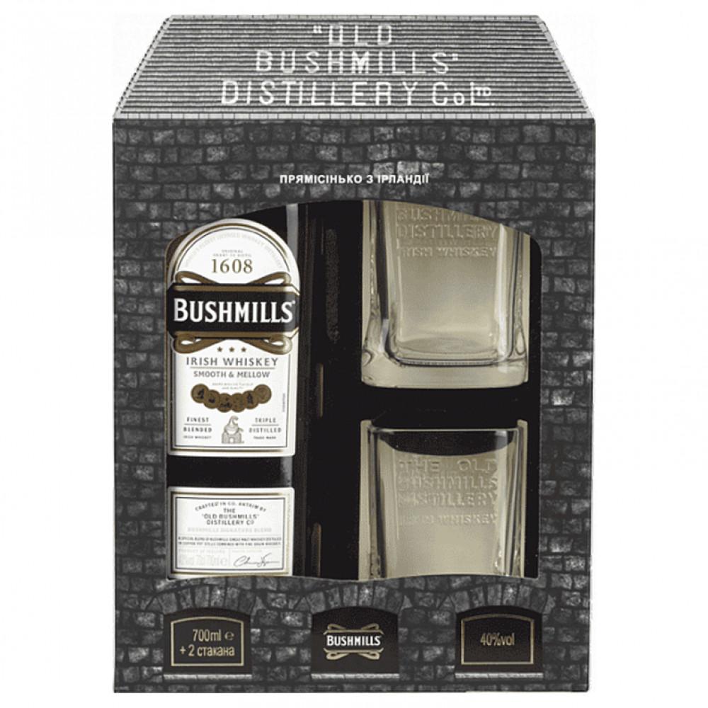 Виски Бушмилз Орижинал (п/к+2 бок)  0.700