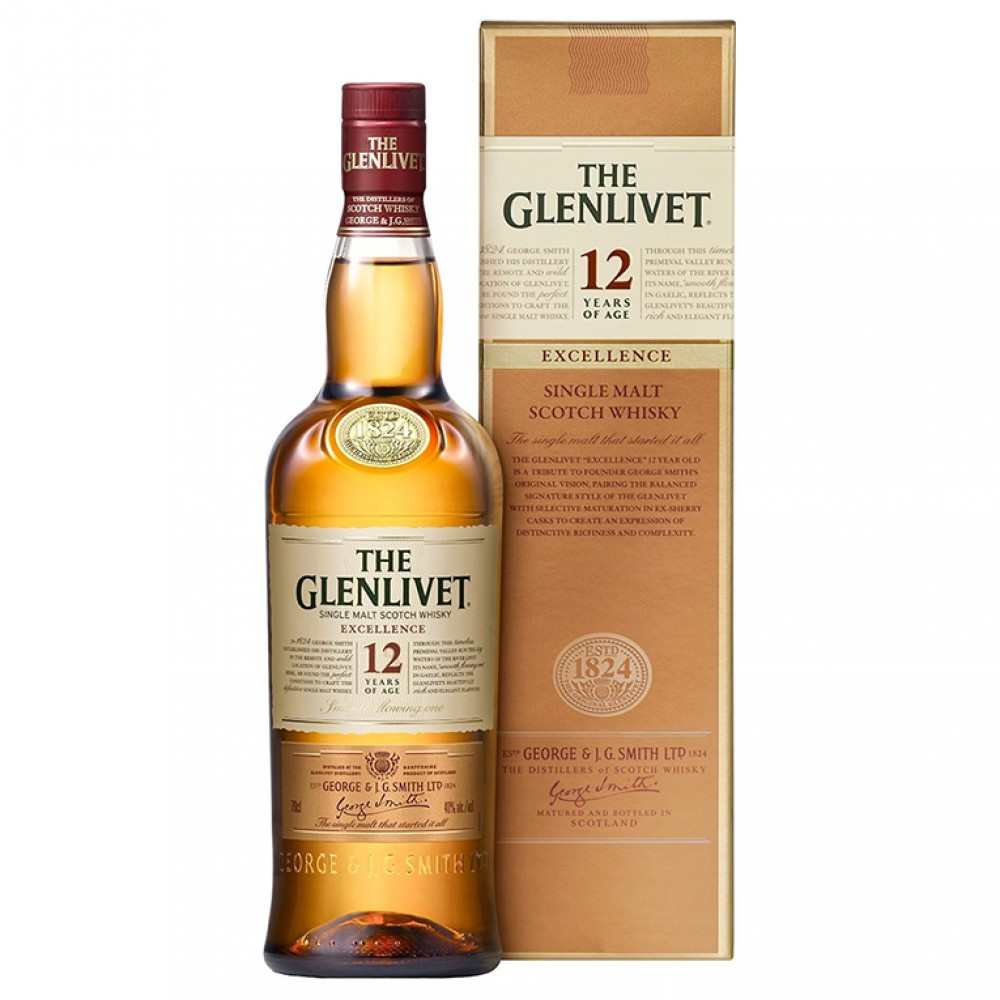Виски Гленливет 12 лет Экселленс (п/к)  0.700