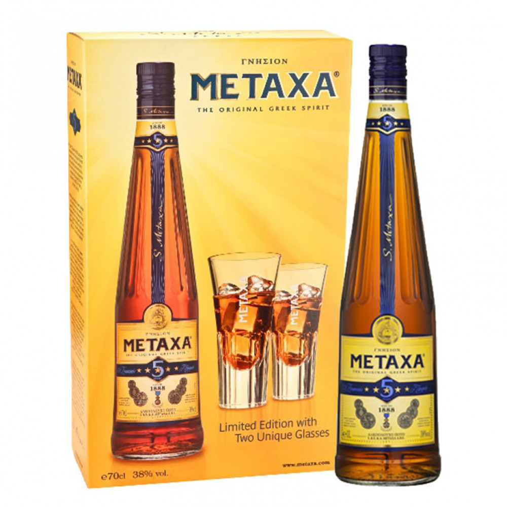 Бренди Метакса 5* (п/к + 2 бок)  0.700