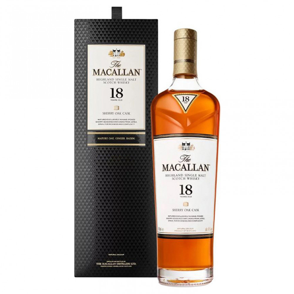 Виски Макаллан Шерри ОК 18 лет (п/к)  0.700