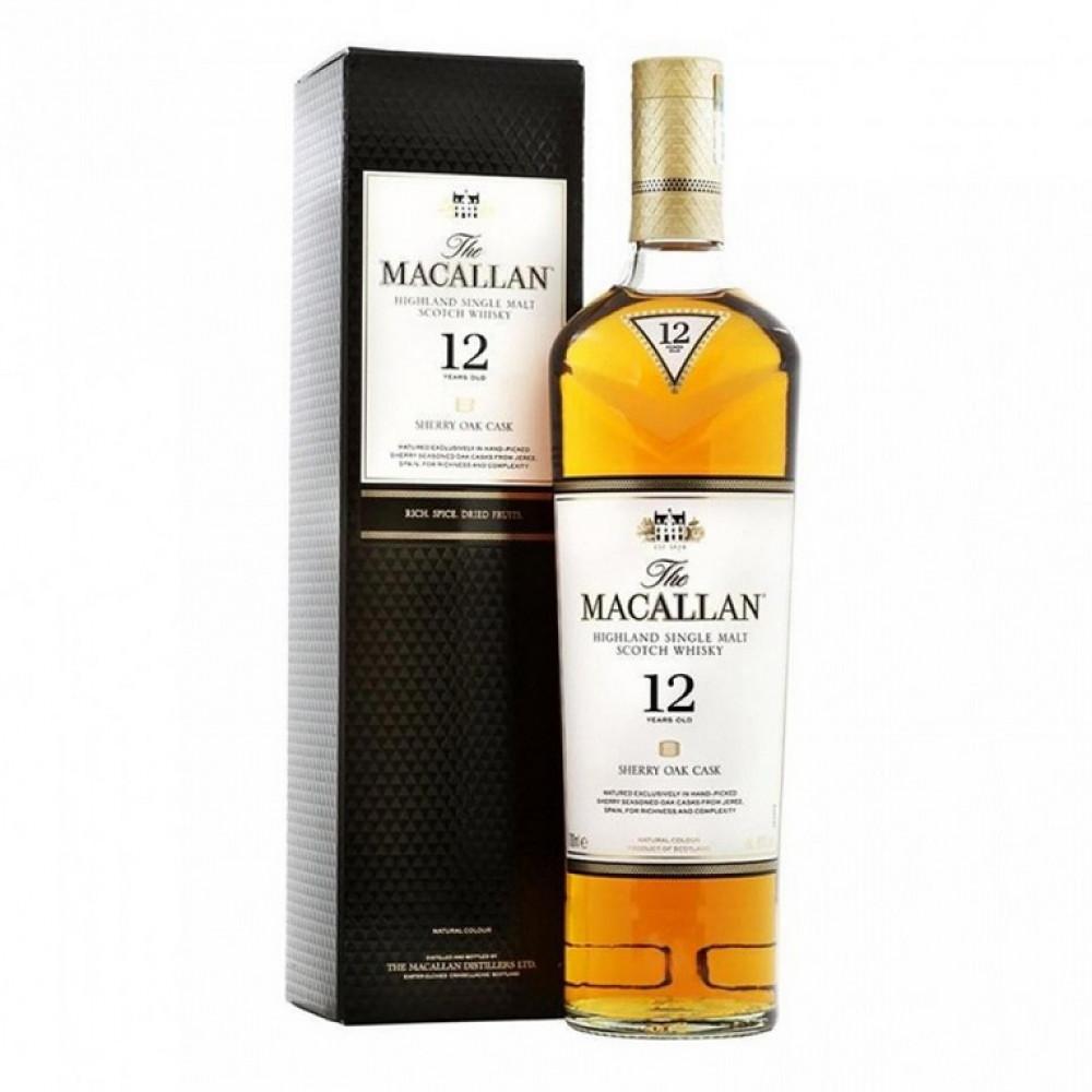 Виски Макаллан Шерри ОК 12 лет (п/к)  0.700