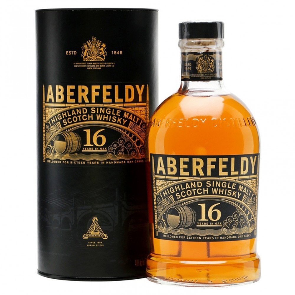 Виски Аберфелди 16 лет (туба)  0.700