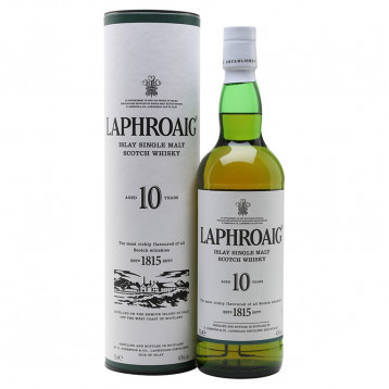 Виски Лафройг 10 лет (туба)  0.700