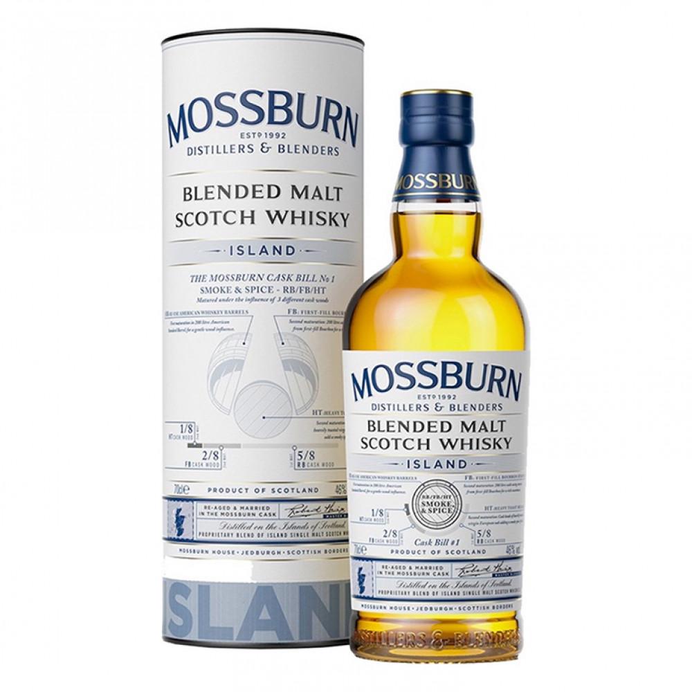 Виски Моссберн Блендед Молт Скотч Айленд (п/к)  0.700