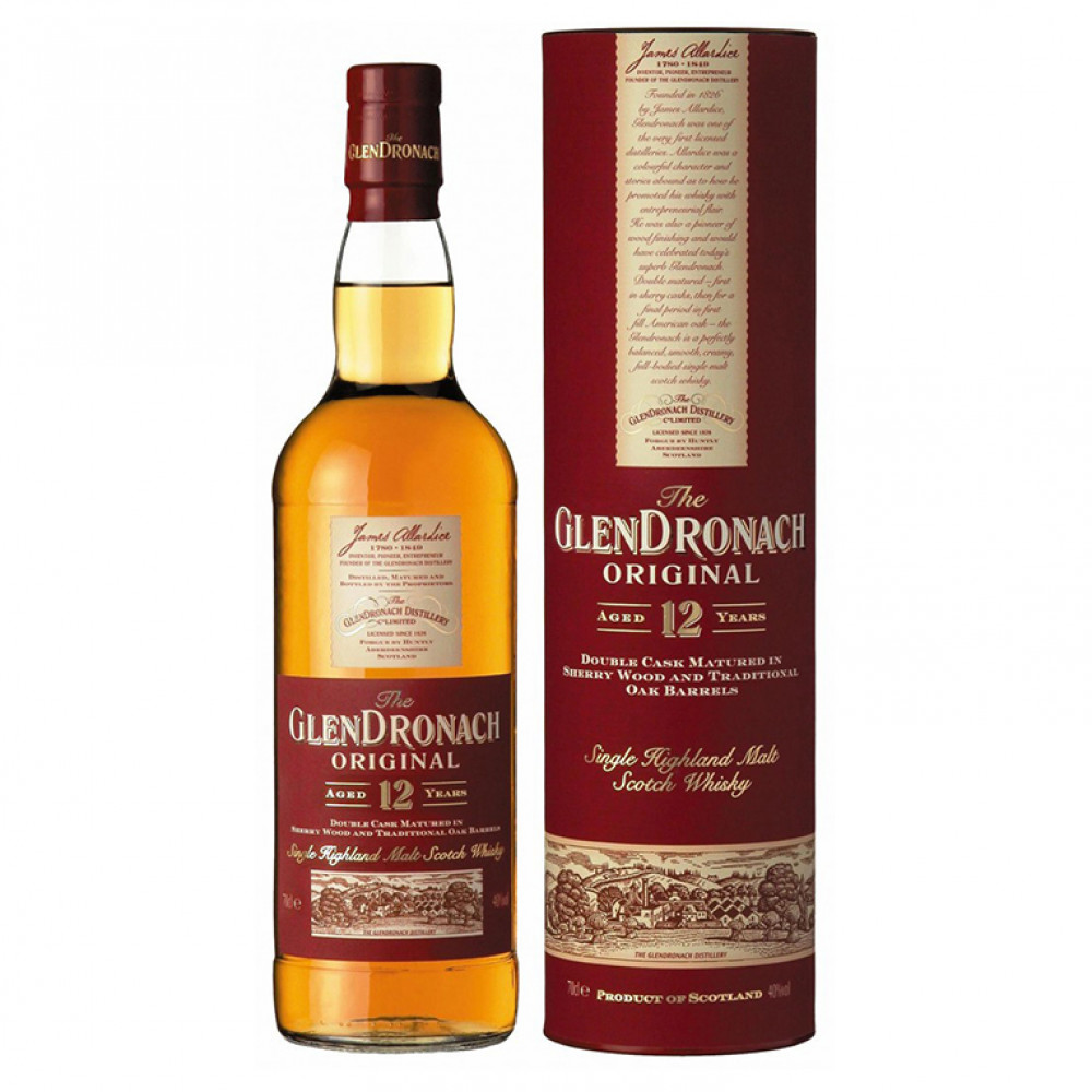 Виски Глендронах 12 лет Орижинал (туба)  0.700