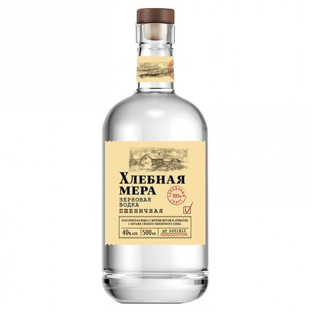 Водка Хлебная Мера Пшеничная 0.500