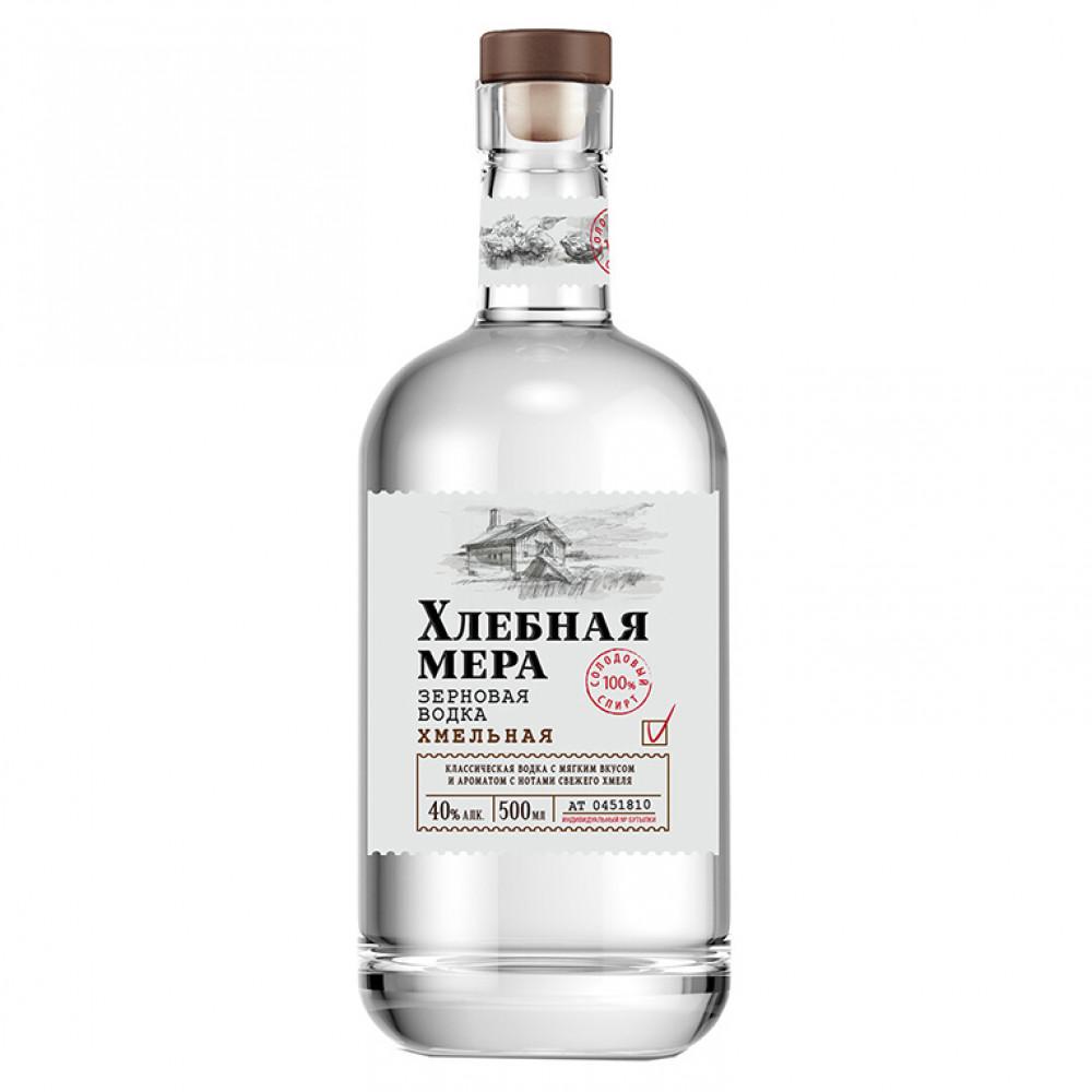 Водка Хлебная Мера Хмельная промо 0.500