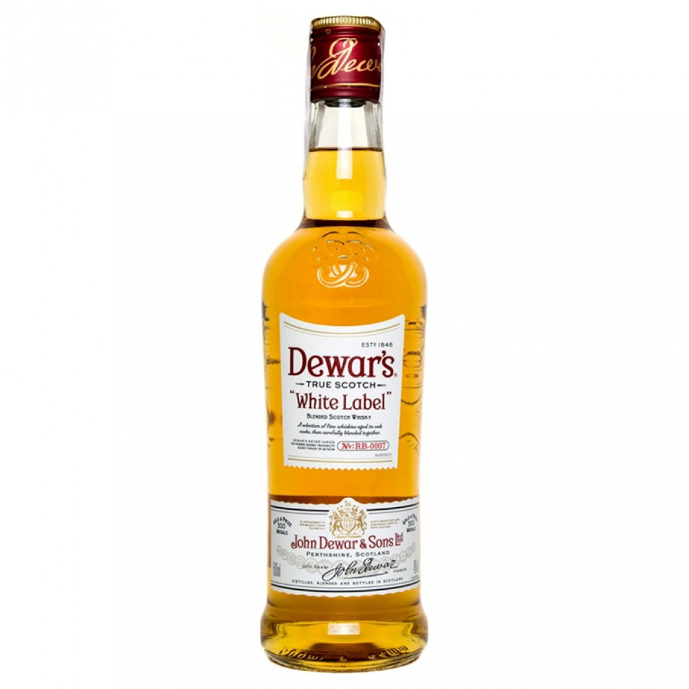 Виски шотландский купажированный Дюарс белая этикетка /''Dewar's White Label'', (ТМ) Dewar's 40% 0.5 John Dewar and Sons